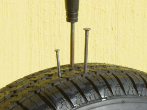 Nail in tyre - Ultraseal-Africa